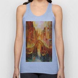 In the evening in Amsterdam Unisex Tank Top