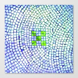 artisan 22.06.16 in lime & shades of blue Canvas Print