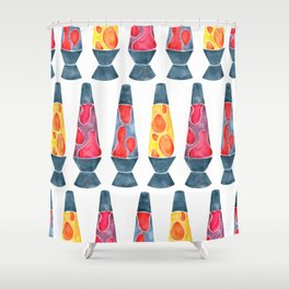 Retro Vibes – Warm Palette Shower Curtain