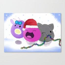 Slimey Christmas Canvas Print