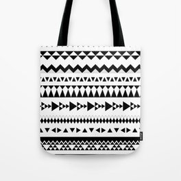 Triangles and more triangles, black Tote Bag