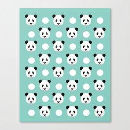 Panda polka dots pattern print minimal trendy kids design pillow cell phone cute panda cub character Canvas Print