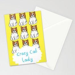 Crazy Cat Lady Stationery Cards