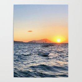 255. Milos Sunset, Greece Poster