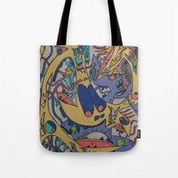 bookworm Tote Bags featuring Bookworm by Art Fitzgerald