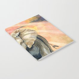 Mom and Baby Elephant Notebook