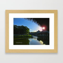 Balcony/Waterfront View Framed Art Print