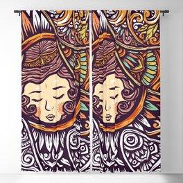 Sleeping Girl Blackout Curtain