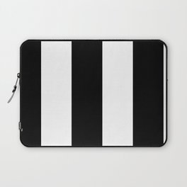 5th Avenue Stripe No. 2 in Black and White Onyx Laptop Sleeve