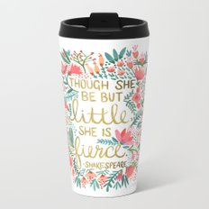 Little & Fierce Metal Travel Mug