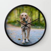 mickey Wall Clocks featuring MICKEY by Jen Grantham Photography