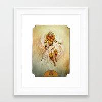 aang Framed Art Prints featuring Air by Madalyn McLeod