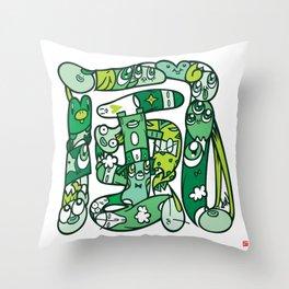 風 - WIND Throw Pillow