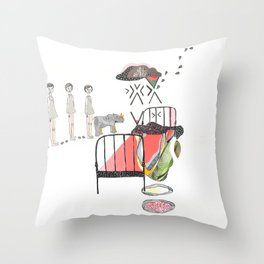 Sleepwalking Throw Pillow