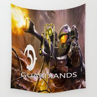 guardians Wall Tapestries featuring Halo5 Guardians by store2u