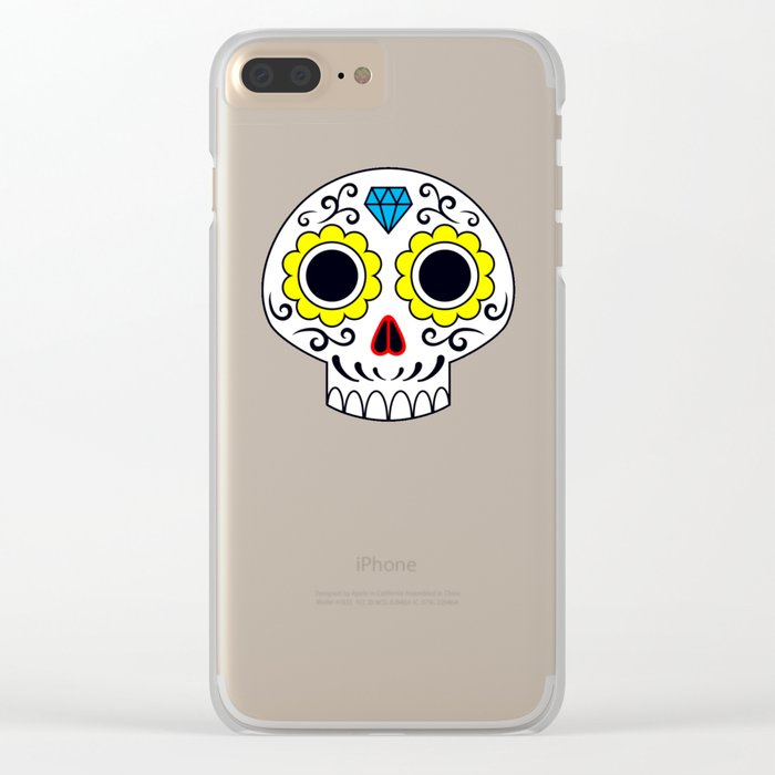 Sugar skull for a cake Clear iPhone Case