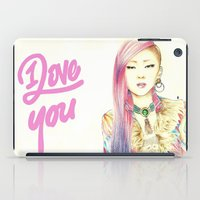 kpop iPad Cases featuring I Love You Everyday by Orionebula