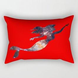 Galaxy Mermaid 4 (Red) Rectangular Pillow