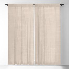 A Touch Of Beige - Soft Geometric Minimalist Blackout Curtain