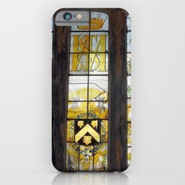Holy Trinity Old Church, Stained Glass Window, Wentworth, Rotherham iPhone Case