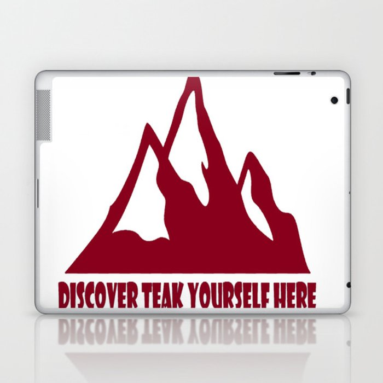 Mountain Design #DiscoverTeakYourselfHere Laptop & iPad Skin