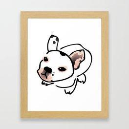 French Bulldog Pup Drawing Framed Art Print