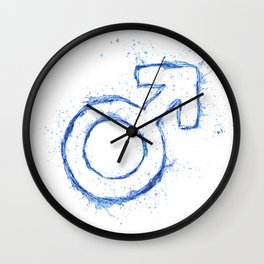 Male water sign Wall Clock