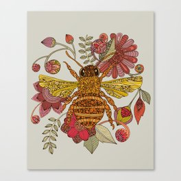 Bee awesome Canvas Print
