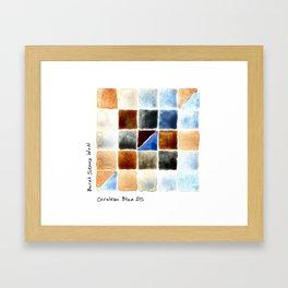 Color Chart - Burnt Sienna (W&N) and Cerulean Blue (DS) Framed Art Print