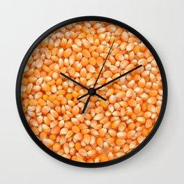 Popcorn maize Wall Clock