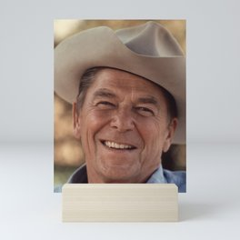 President Ronald Reagan in a Cowboy Hat Mini Art Print