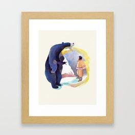 La légende de Carcajou Framed Art Print