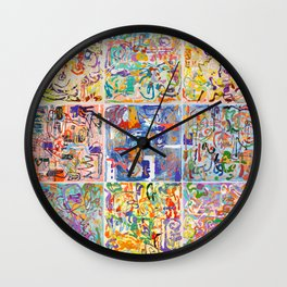 Shamanic Painting 1-9 Wall Clock