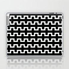 Black line flow Laptop & iPad Skin