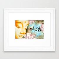 buddah Framed Art Prints featuring Buddah (Purity) by JackiesGamingArt