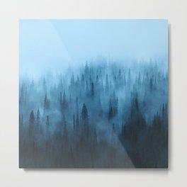 Pine Tree Fantasy Forest Landscape V.4 Metal Print