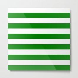 Horizontal stripes / green Metal Print