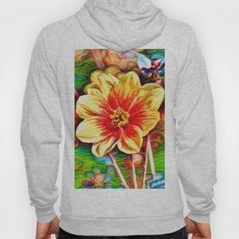 Dahlia Dreams | Abstract Oil Painting Hoody