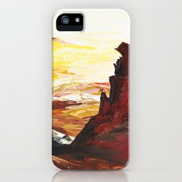 Landscape painting- The Indian - by LiliFlore iPhone Case