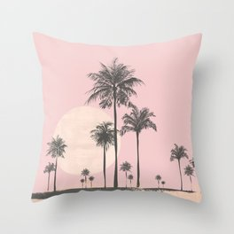 Tropical Sunset In Peach Coral Pastel Colors Throw Pillow
