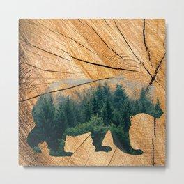 Big Bear Forest Metal Print