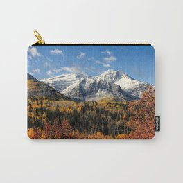 Winter Mountain In Autumn Utah Carry-All Pouch