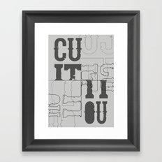 Cut it out. Framed Art Print