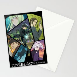 Darker Than Black Anime Poster Stationery Cards