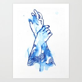 waves hands II Art Print