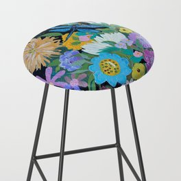 Dragonfly Floral Bar Stool
