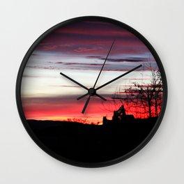 Sunset Machine Wall Clock