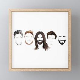 Queer Eye Fab 5 Faces Framed Mini Art Print