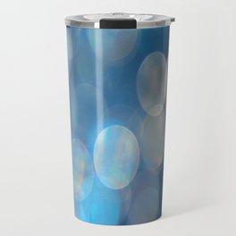 Blue Bokeh Travel Mug