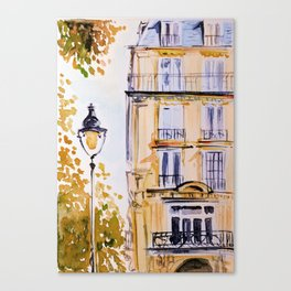 Paris autumn architecture Canvas Print